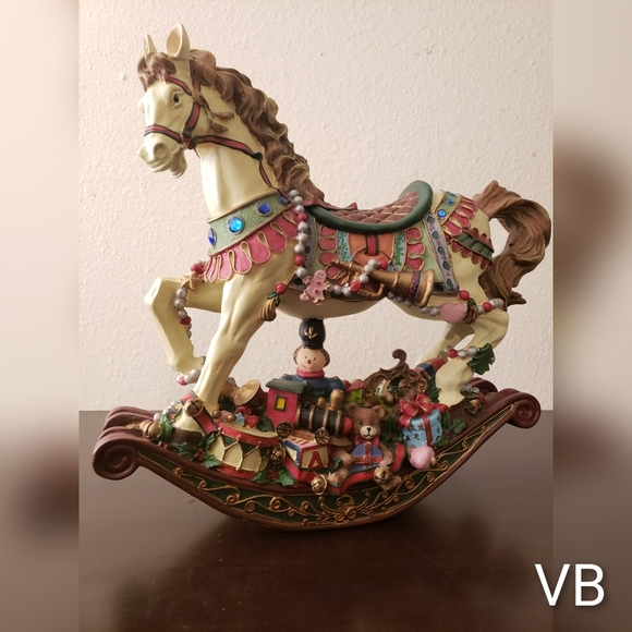 Vintage Cedar Creek Rocking Horse Christmas Decor.
